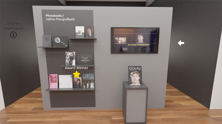 virtual exposition made by Coleg Sir Gâr using Flipsnack for their graduate show 2020