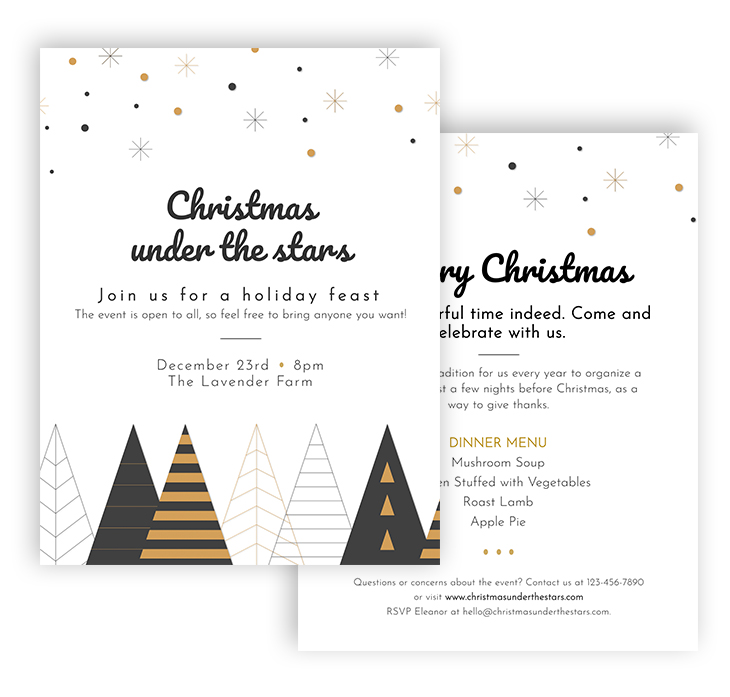 Minimalist Christmas Party Flyer Template