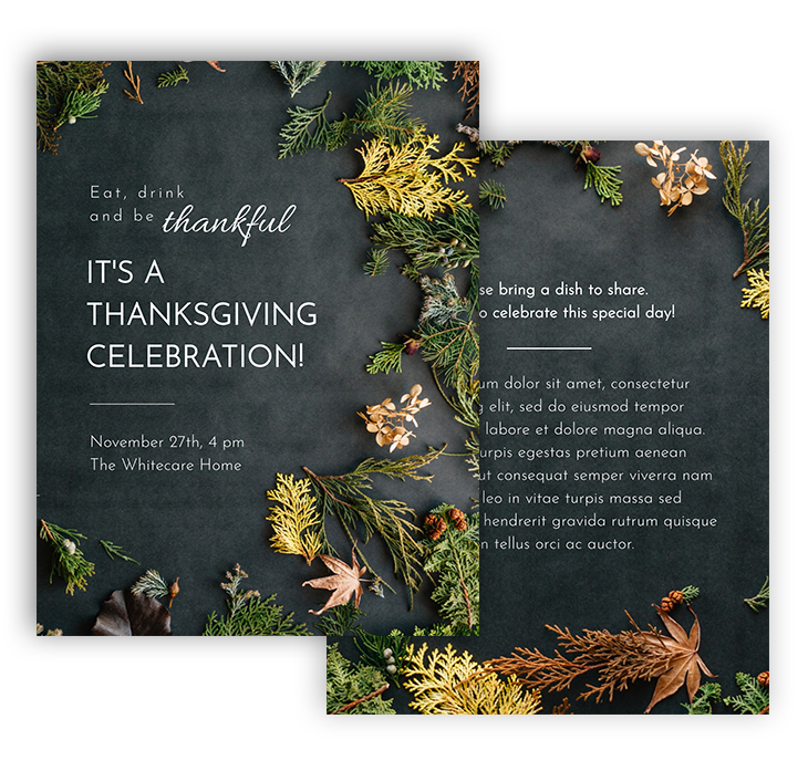 Modern Thanksgiving Flyer Template