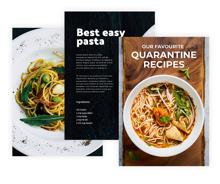 Simple Quarantine Recipes Cookbook Template