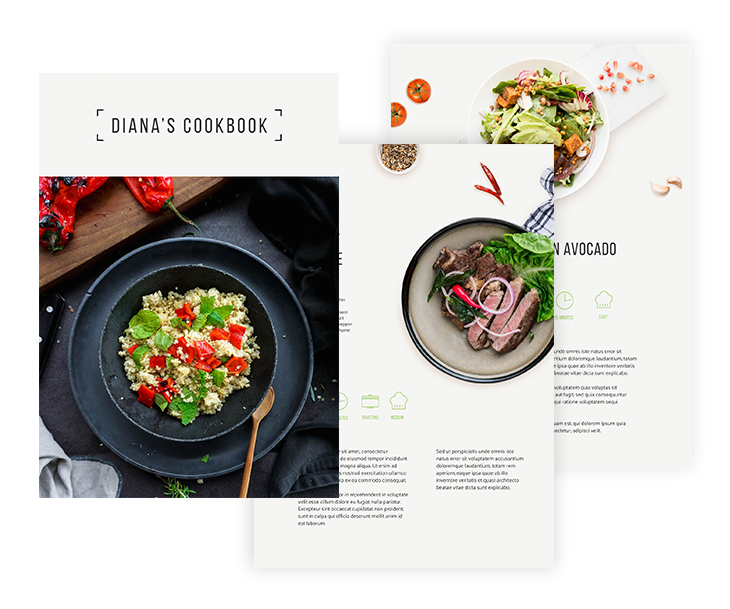 Healthy Food Cookbook Template
