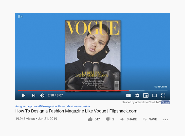 video content strategy - how to design a fashion magazine like vogue