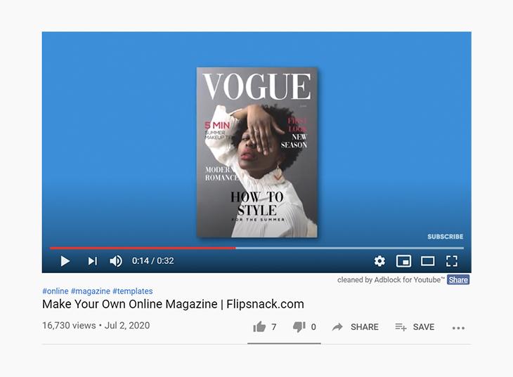 make a magazine like Vogue - tik tok challenge