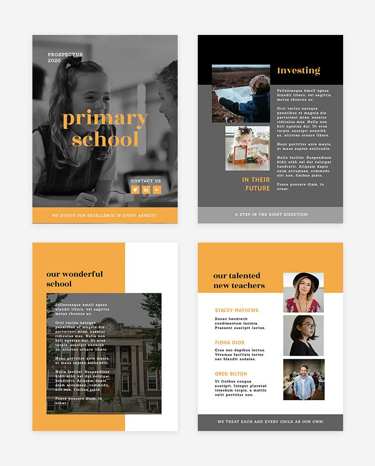 school brochure free template