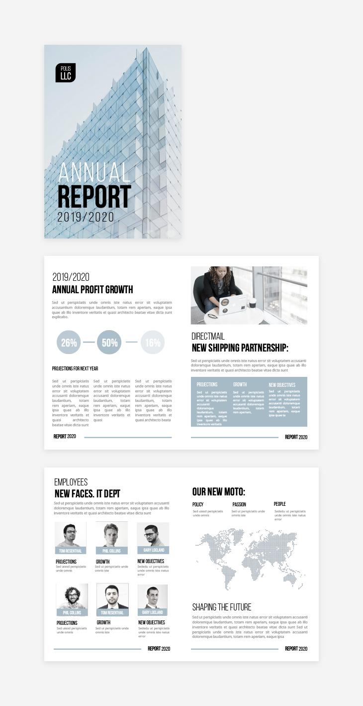 school report template