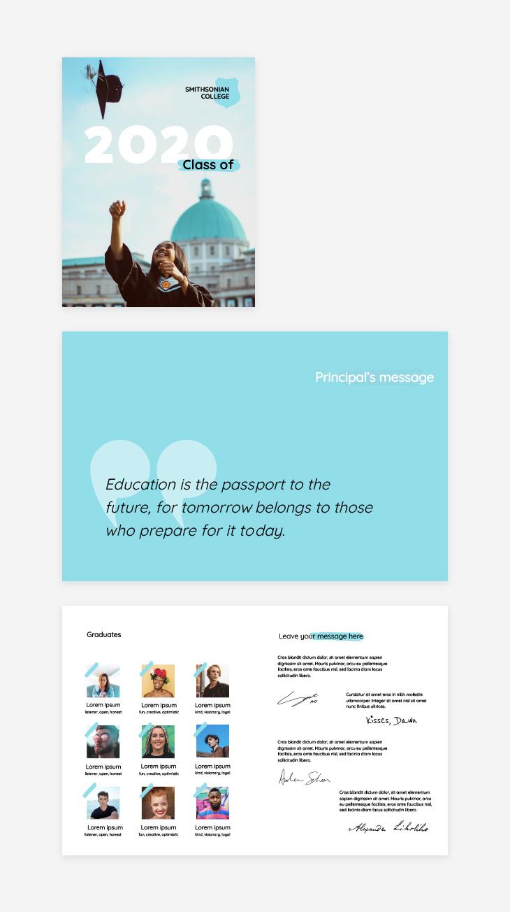 online educational tool yearbook template