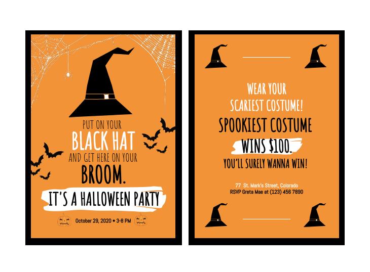 halloween template online educational tool