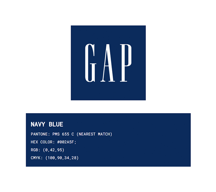 GAP brand color