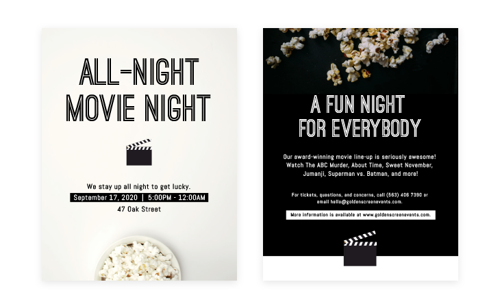 Movie Night Event Flyer Template