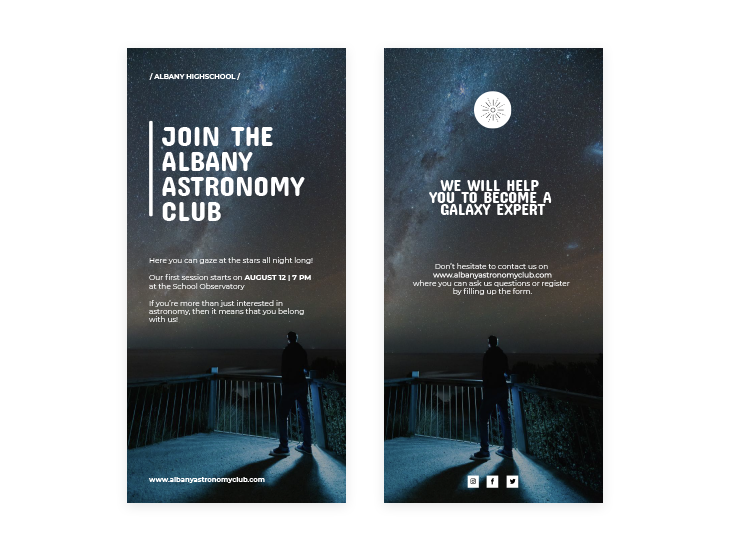 Astronomy Club Flyer Design Template