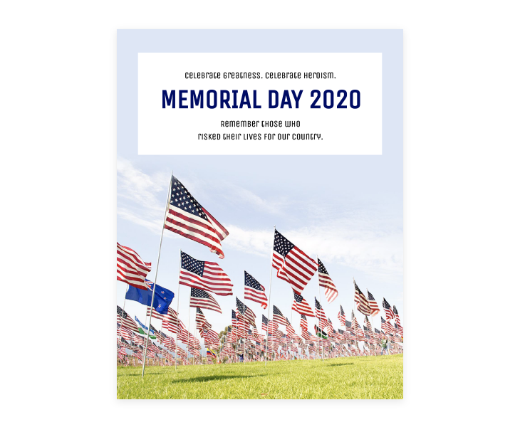 Memorial Day Flyer Design
