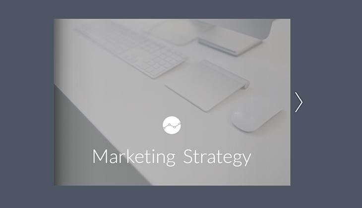 marketing strategy presentation template from Flipsnack