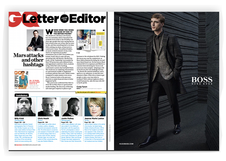 image of GQ magazine- how to run an online magazine in 2020