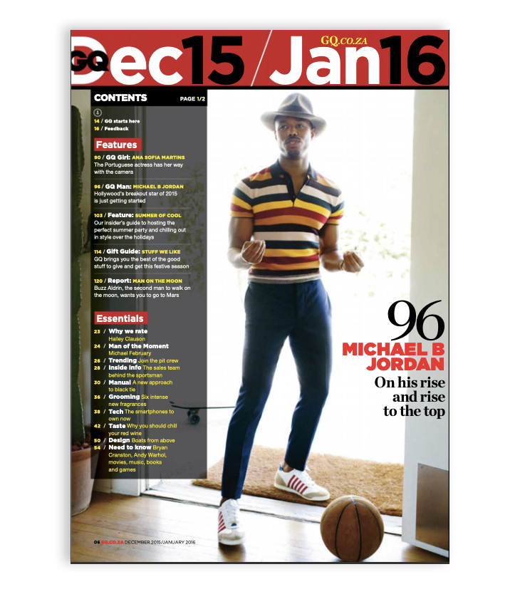 GQ table of contents - how to run an online magazine in 2020