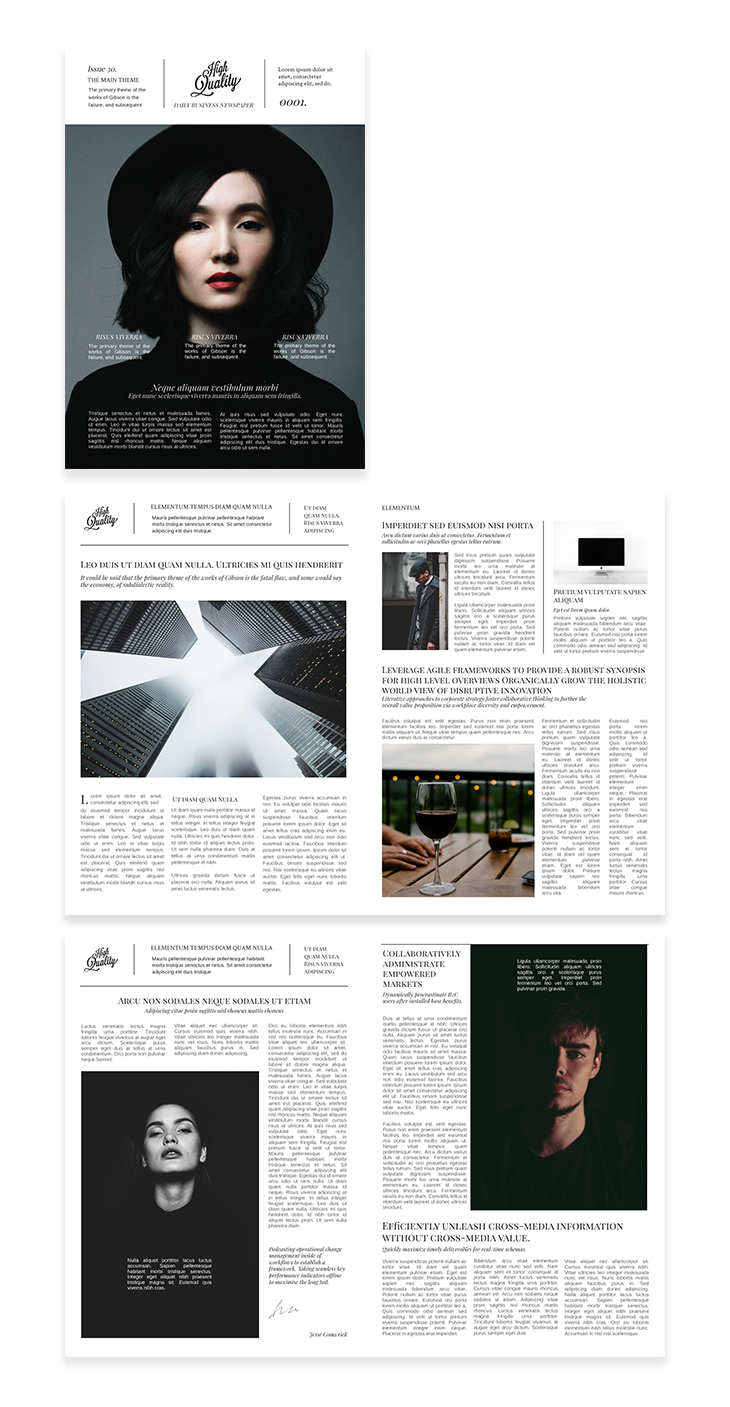 Business Magazine Template template from Flipsnack