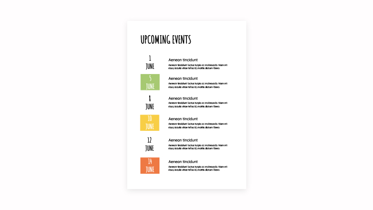 Current and Upcoming Events & Activities