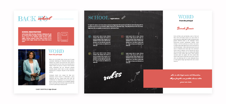 Back To School Newsletter Template