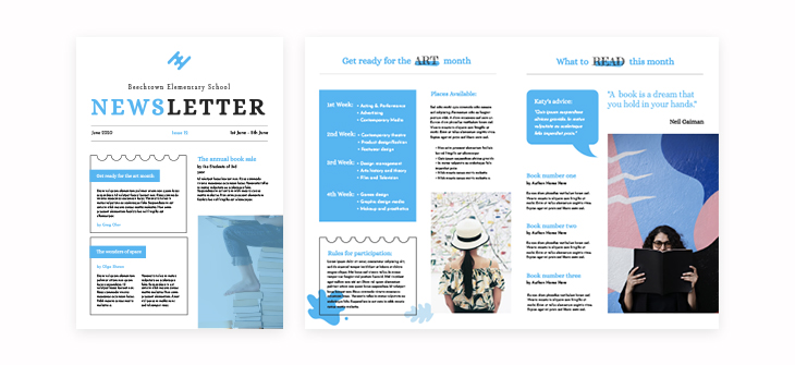 Printable Elementary School Newsletter Template