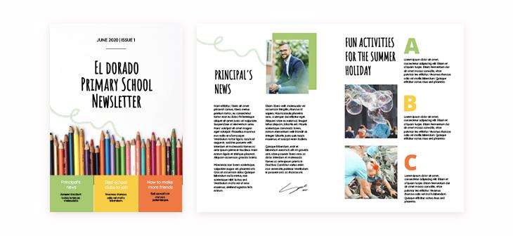 Primary School Newsletter Template