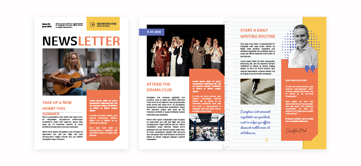 High School Newsletter Template