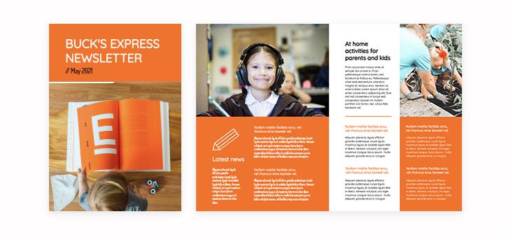 Primary School Parents Newsletter Template