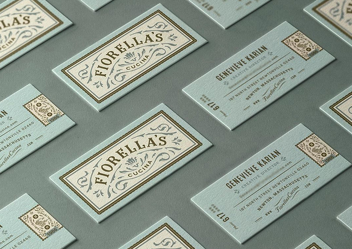 Example of a vintage style business card design
