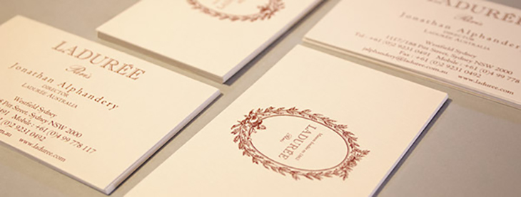 image showing the laduree business cards
