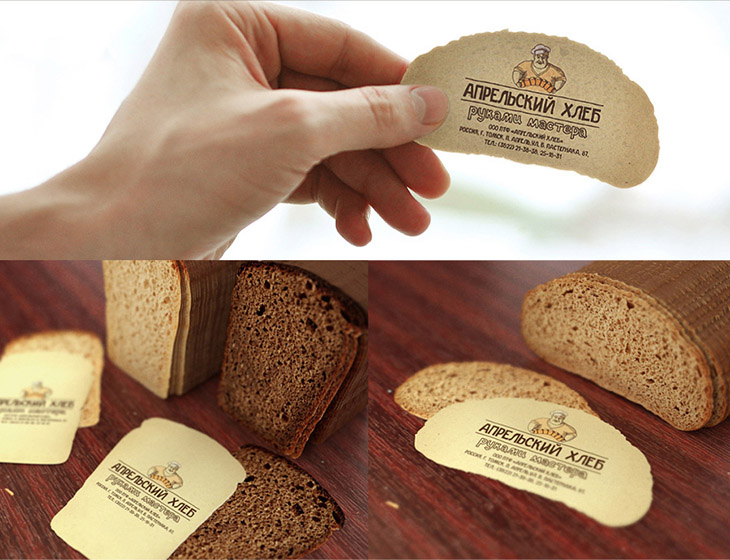 image of a creative business card idea for a bakery