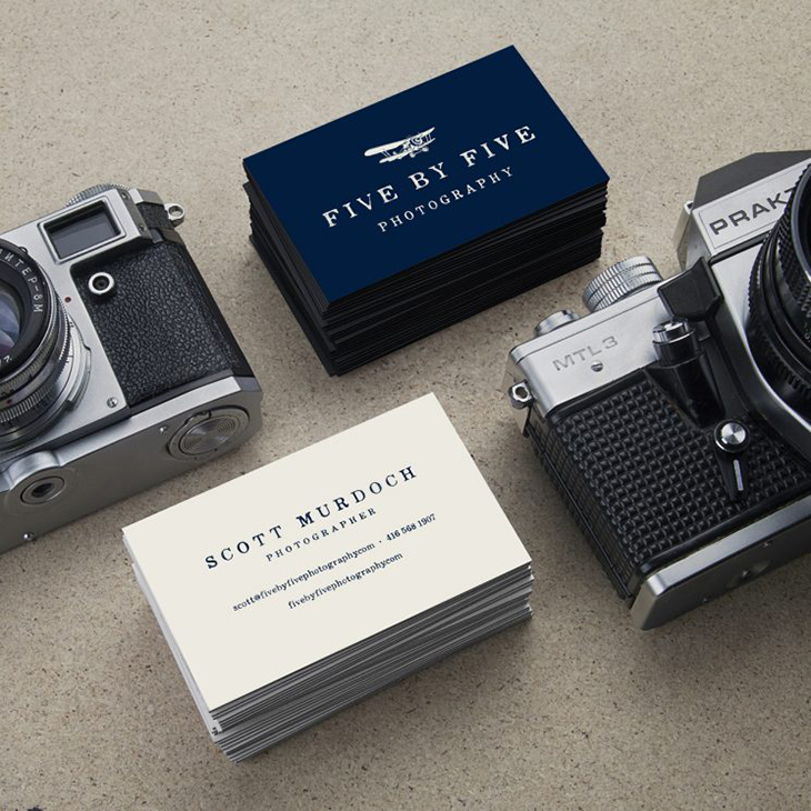 example image of a photography business card design idea