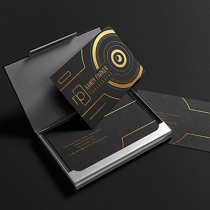 image showcasing a business card idea for professional photographers