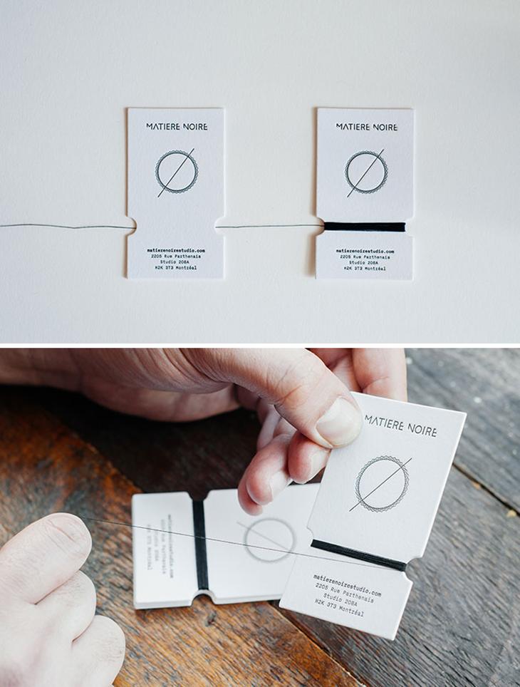 example image representing a creative business card design idea for a fashion brand