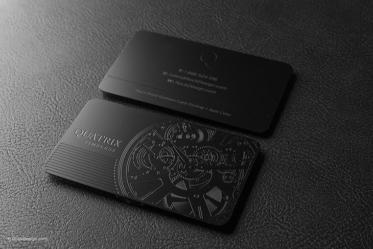 example of engraved professional business card idea