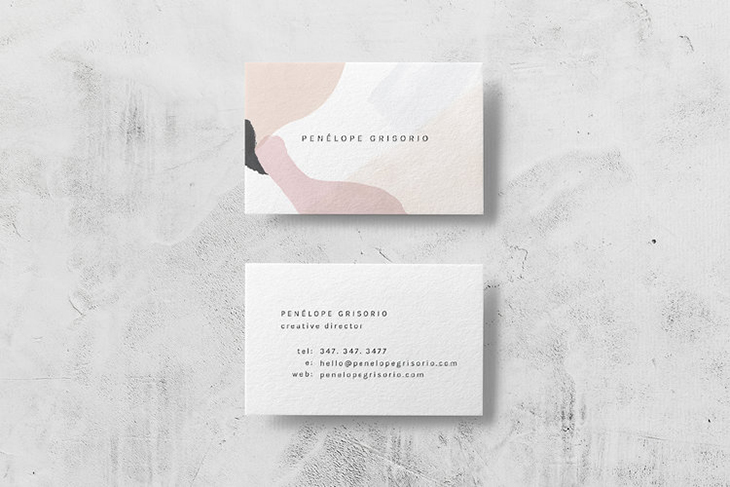 example image of a neutral design for a graphic designer business card
