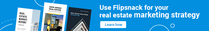 banner learn how to use Flipsnack for your real estate marketing strategy