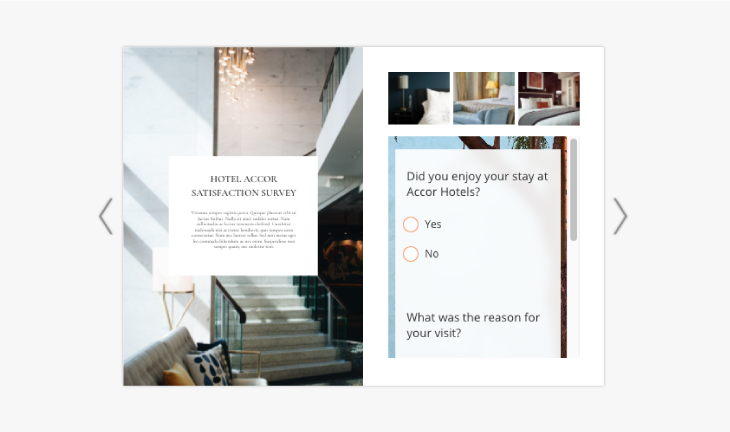 example of integrated survey widget from surveylegend