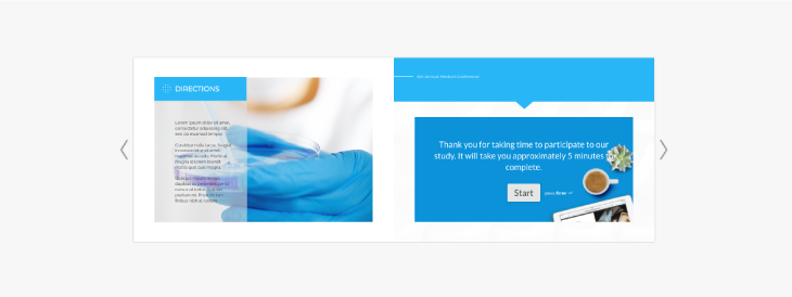 example of integrated iframe form widget by typeform
