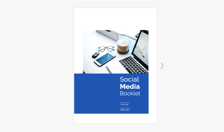 6 page social media booklet template from Flipsnack