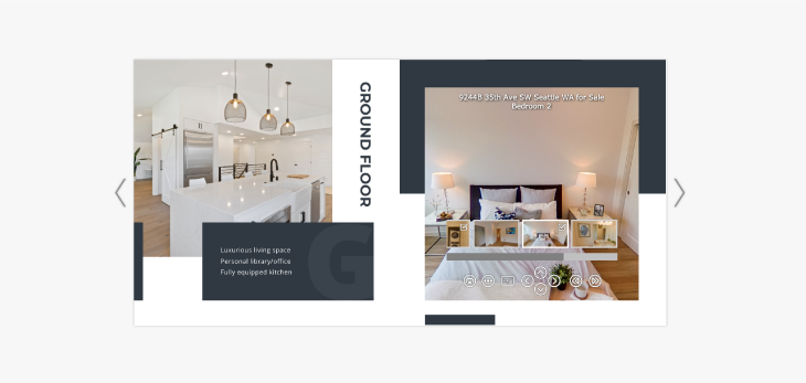 example of how to use virtual tours for real estate flipbooks