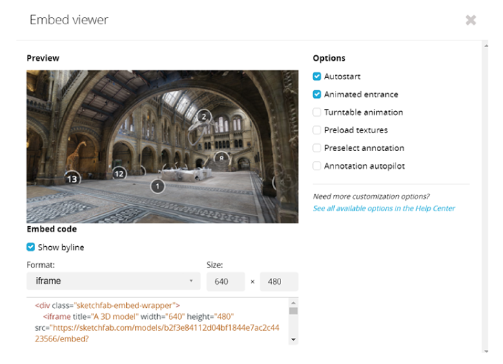 a sketchlab 3d virtual tour of the national history museum in london