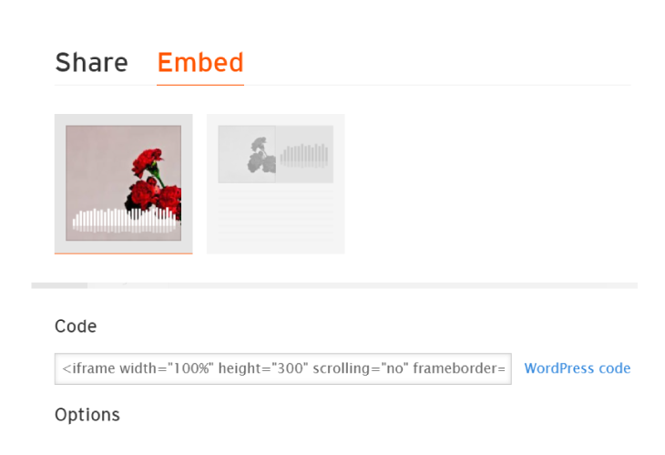 how to embed souncloud widget
