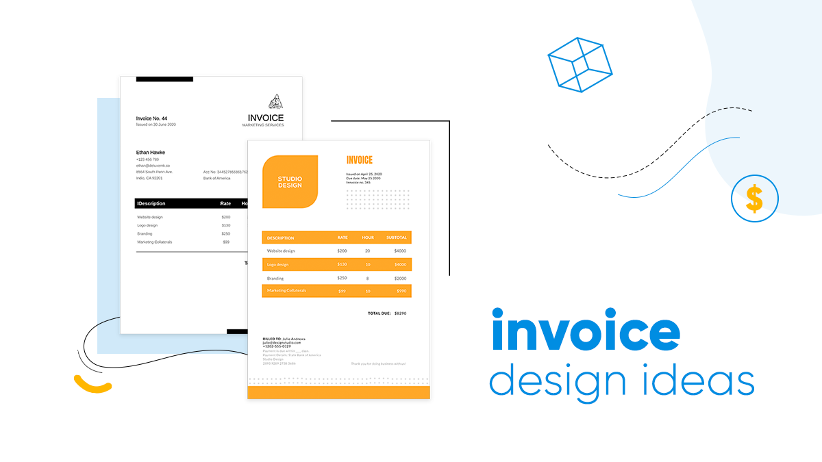 invoice design ideas cover