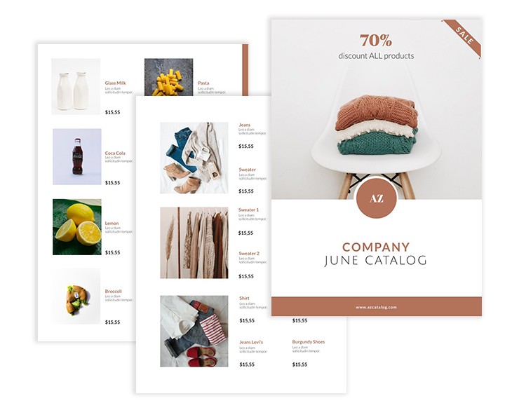 company catalog template from Flipsnack
