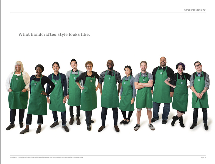 Starbucks dress code lookbook