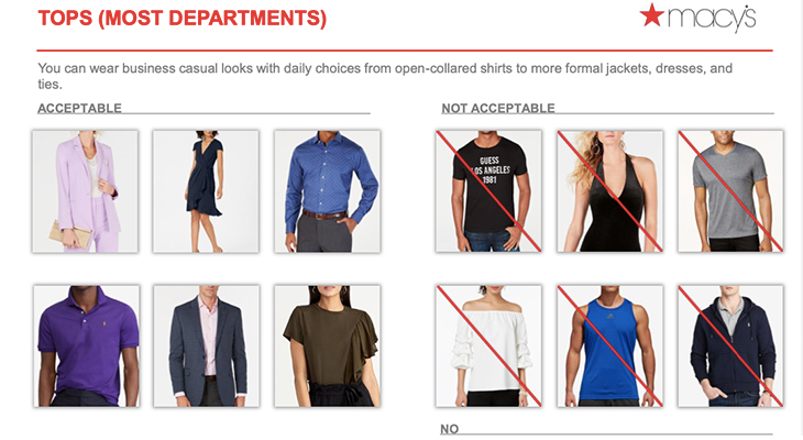 Macy's dress code lookbook