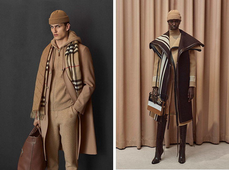 Burberry lookbook example