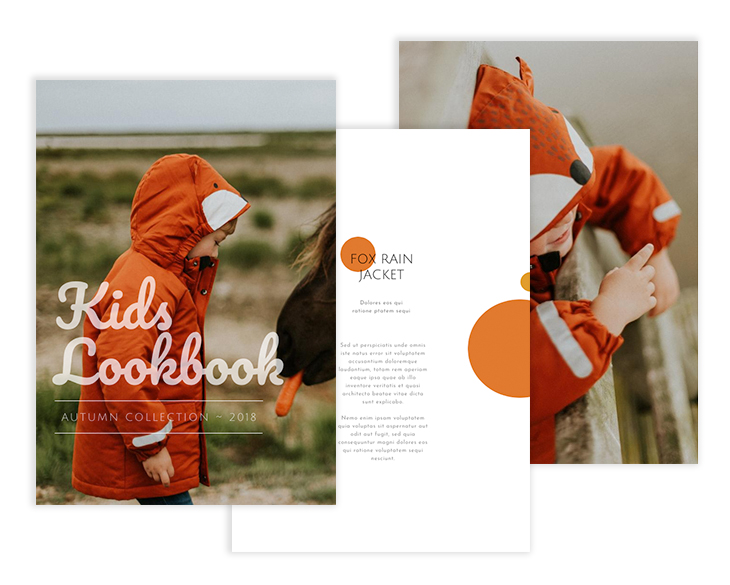 kids lookbook template from Flipsnack