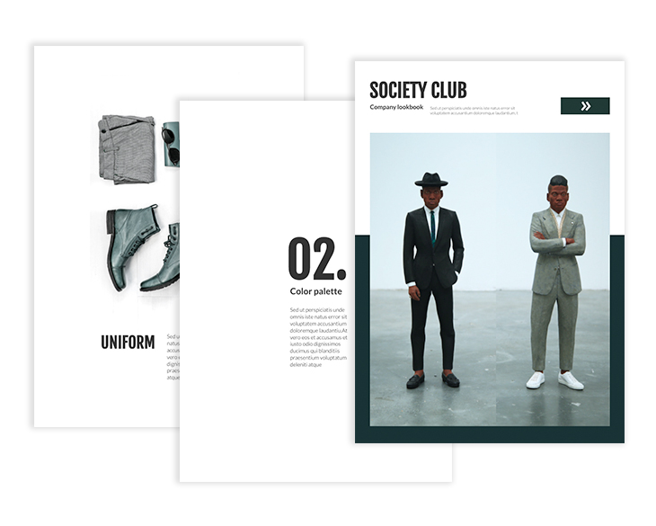 company lookbook template from Flipsnack