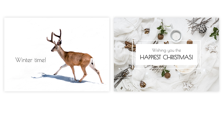 Winter Holidays Greeting Card Template