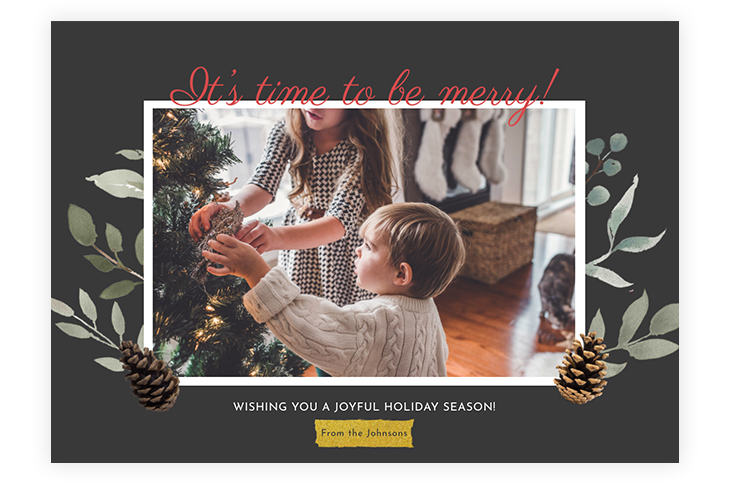 Christmas Photo Card Design Template