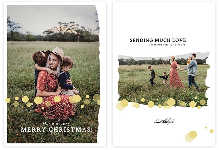 Photo Christmas Card Template